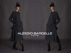 Alessio Bardelle Ready to Wear Dress in a grey pinstripe f*w*7-8