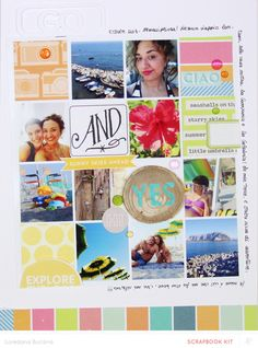 Summer Review *Main Kit Only* by lory at @Studio_Calico - 8.5x11 grid layout #SChellohello