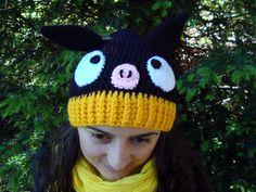 Gorro de lana P-Chan, Ranma 1/2 (Ganchillo, Crochet)