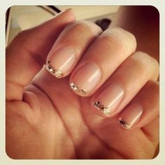 Sparkle French mani. Simple!
