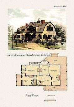 Architecture Design Concept, Architecture Plan, Victorian Architecture, Historical Architecture, Landscape Architecture, Building Plans, Building A House, Vintage House Plans, Second Empire