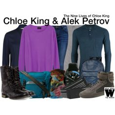 Inspired by Skyler Samuels and Benjamin Stone as Chloe King and Alek Petrov on The Nine Lives of Chloe King.