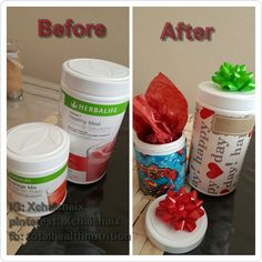 Herbalife diy gift Herbalife gift empty canister ideas reuse diy gift