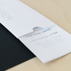 Pocket with pull out invitations | Seven Swans