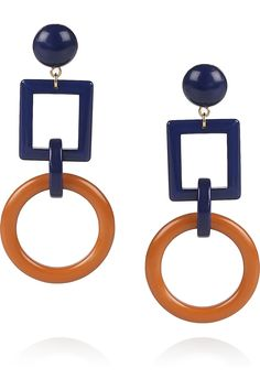 MARNI Geometric acetate clip earrings (http://www.net-a-porter.com/product/183913)