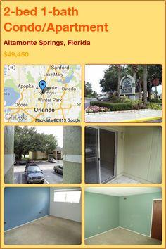 2-bed 1-bath Condo/Apartment in Altamonte Springs, Florida ►$49,450 #PropertyForSale #RealEstate #Florida http://florida-magic.com/properties/4762-condo-apartment-for-sale-in-altamonte-springs-florida-with-2-bedroom-1-bathroom