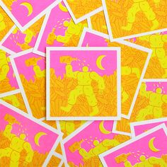 Limited edition risograph beer labels for Workhorse Press x Beer Times at O…