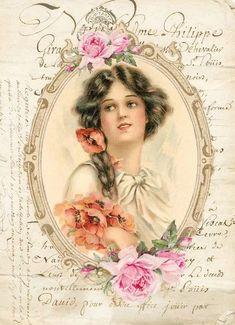 Decoupage Vintage, Decoupage Paper, Vintage Paper, Victorian Pictures, Vintage Pictures, Vintage Images, Vintage Labels, Vintage Ephemera, Vintage Postcards