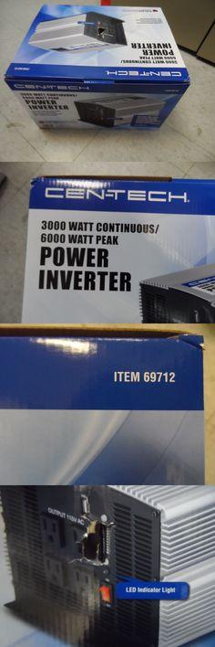 Power Inverters: Cen-Tech 69712 3000 Watt Continuous/6000 Watt Peak Power Inverter New BUY IT NOW ONLY: $169.99