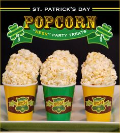 "popcorn ball ""beer"" treats..."