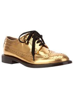 MARNI - Sapato dourado. 1