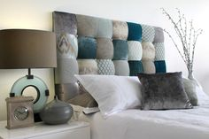 ~ Limited Edition Collage Bedhead ~ Peoni Home - Surround Yourself with Style