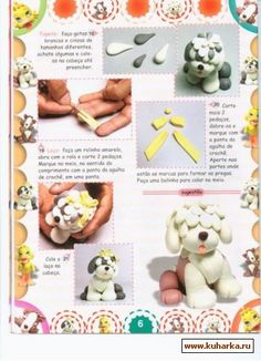 How to make a Dog in Fimo or Gum Paste - picture tutorial Fondant Dog, Fondant Animals, Fondant Cake Toppers, Fondant Figures, Fondant Cakes, Cake Models, Beach Cakes, Polymer Clay Animals, Modeling Chocolate
