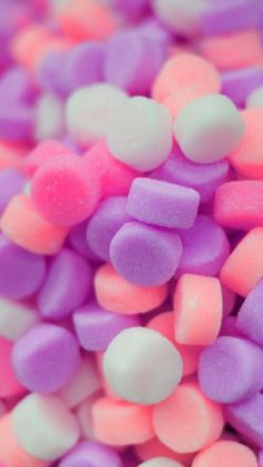 sweet, marshmallow, and background image Food Wallpaper, Cute Wallpaper Backgrounds, Tumblr Wallpaper, Wallpaper Iphone Cute, Pretty Wallpapers, Colorful Wallpaper, Aesthetic Iphone Wallpaper, Disney Wallpaper, Screen Wallpaper