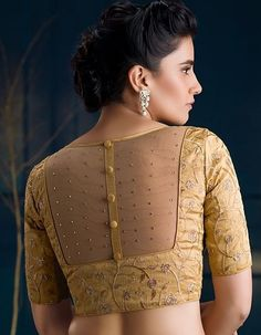 Indian Blouse Designs, Netted Blouse Designs, Saree Blouse Neck Designs, Simple Blouse Designs, Bridal Blouse Designs, Golden Blouse Designs, Salwar Neck Designs, Saree Blouse Patterns, Dress Neck Designs