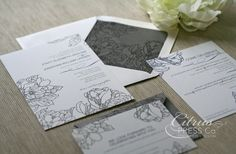 Wedding Invitation - Vintage Peony (Featured in The Knot) Available as DIY, via Etsy.