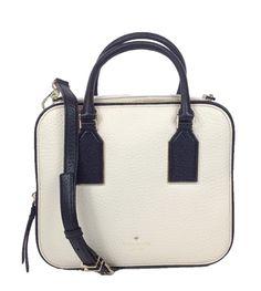 Kate Spade New York 'Cecil Court' Elia Leather Top Handle Crossbody, Pebble/Black