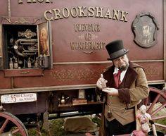 Prof. Crookshank's Traveling Medicine Show wagon
