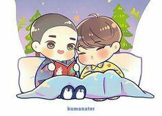Kastrating Kai (traducción) - Because I Listen to My Heart Kaisoo, Chanbaek, Kyungsoo, Kim Jongin, Otp, Exo Fan Art, Kpop Fanart, Chibi, Kawaii
