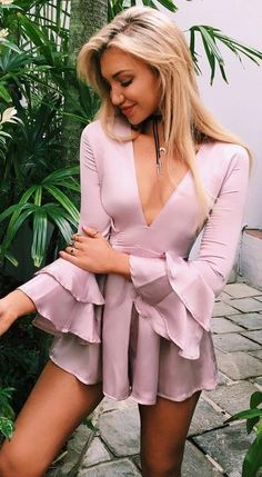 Pink Silk Playsuit                                                                             Source