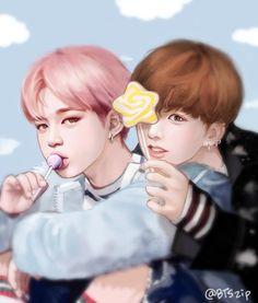 Really cute Jikook wings 2 fan art xx
