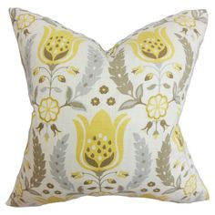 Add a splash of colour to your scheme with this striking cotton cushion, featuring a stylised floral design. Team with a complementary colour palette, vivid ...