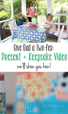 Great idea/tips on making a video of the craft your little guys make for Father's Day - Bet Dad will keep it a lot longer than the art project ;)