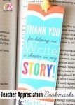 love these with a barnes and noble gift card // Free Printable Teacher Appreciation Bookmarks!