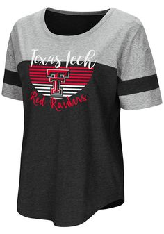 7f9a2be0 Colosseum Texas Tech Red Raiders Womens Red Goofy Foot Short Sleeve T-Shirt  - 15038243