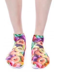 #fruitloops #rainbow socks http://www.dollskill.com