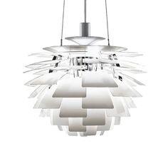 Louis Poulsen Pendelleuchte PH Zapfen, Ø 48cm weiß  #artvoll #Klassiker #Design www.artvoll.de