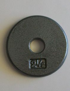 2LBS. PAIR CFF FRACTIONAL PLATE 1 LBS - RUBBER COATED; CALIBRATED