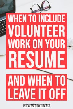 Do you include volunteer work on your resume? Here's when to include volunteer work on your resume, and when to leave it off. Resume Work, Resume Layout, Simple Resume, Resume Design, Design Design, Graphic Design, Resume Writing Tips, Resume Tips, Resume Ideas