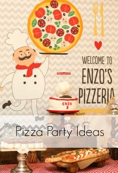 gorgeous pizza chef themed birthday party - every detail is perfect