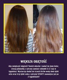 Czy wiesz, że aby zwiększyć objętość Twoich włosów i nadać im żywy kol   - przepisy kulinarne, wystrój kuchni, sprzęt, gadżety kuchenne - jeeedzonkoo i nie tylko Homemade Cosmetics, Hair Hacks, Salons, Life Hacks, Beauty Hacks, Health Fitness, Hair Beauty, Make Up, Herbs