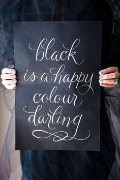 Black is a Happy Color, My Darling | Satin and Snow | Ottawa Wedding Coordinator via boards.styleunveiled.com