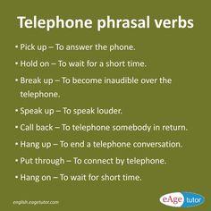 Telephone phrasal verbs