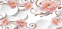 3D,A Linha,A Linha Marrom,Flores cor - de - Rosa,Gotas de água,Textura de Fundo,Fundo interior,海报banner,white