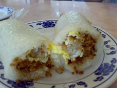 Taiwanese Breakfast Burrito - translated in Chinese - Salted Rice Roll with Egg