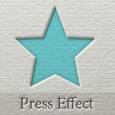 Press Letter Photoshop Effect psd-dude.com Tutorials