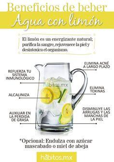 Beneficios de beber agua con limón. http://www.farmaciafrancesa.com