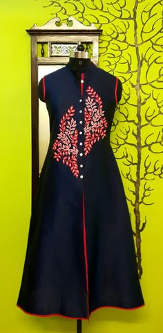 #MOHHO by A&N Salwar Pattern, Kurti Patterns, Embroidery Dress, Embroidery Neck Designs, Kurta Designs, Blouse Designs, Suits For Women, Clothes For Women, Punjabi Dress
