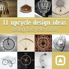 Here're 11 bike rim upcycle designs