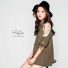 Buy 'PUFII – Crochet-Trim Cutout-Shoulder Shirt' with Free International Shipping at YesStyle.com. Browse and shop for thousands of Asian fashion items from Taiwan and more!
