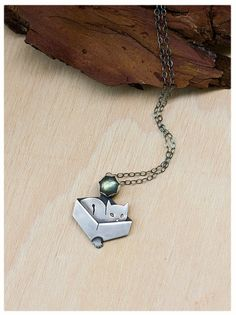 Cat necklace: Cat in a box - Silver Cat Jewelry - Unique Cat pendant - Cat lover gift - Christmas gift for mom - Hand pierced Kitty pendant by AnniamAeDesigns on Etsy Cat Jewelry, Animal Jewelry, Cat Lover Gifts, Cat Lovers, Lovers Gift, Cleaning Silver Jewelry, Silver Rings Online, Silver Engagement Rings, Ring Engagement