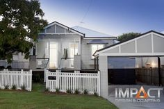 dark grey and white queenslander exterior - Google Search