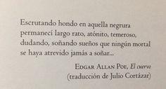 Edgar Allan Poe, El cuervo (Traducción de Julio Cortázar)
