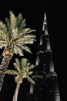 Burj Khalifa, Dubai, by night