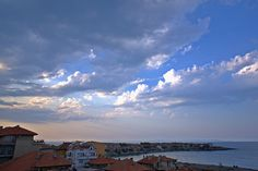 Sozopol Sky View in the Evening (At the Seaside Resort in Bulgaria, Europe)