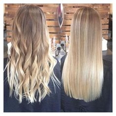 Balayage straight hair ❤ liked on Polyvore featuring beauty products, haircare and hair styling tools